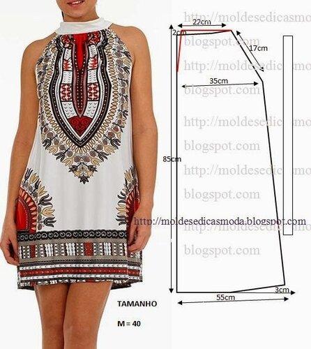 Выкройка платья из штапеля 48 размер