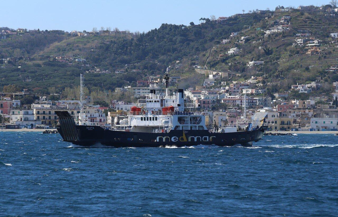 Agata ferry off the coast of Ischia island