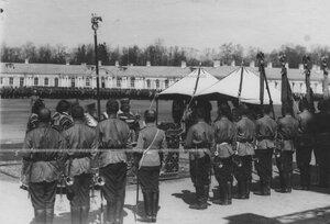 Молебен перед началом парада полка.