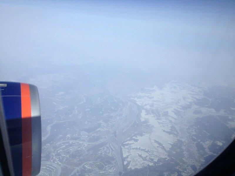 В небе, перелет Москва-Пекин