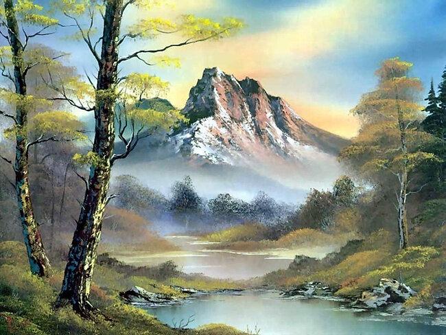 Великолепные пейзажи американского художника Roberta  Normana Rossa