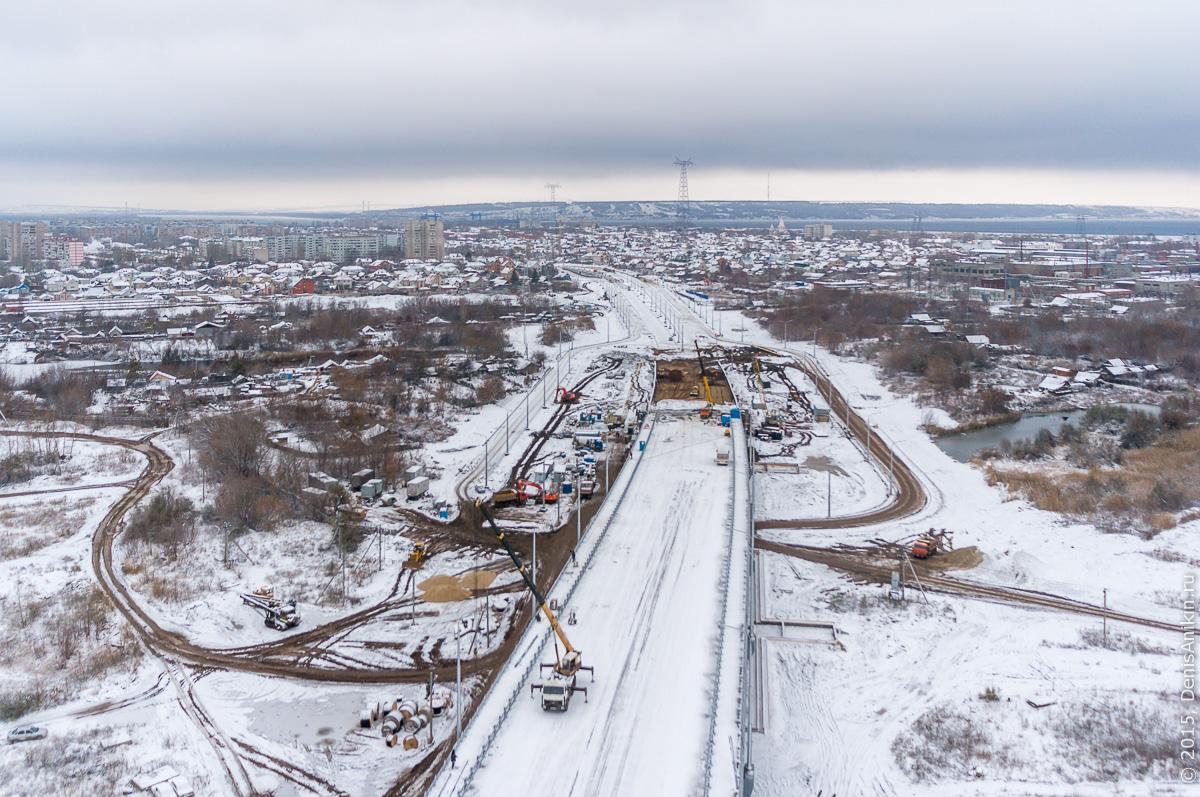 Мостовой переход через судоходный канал в Балаково 14