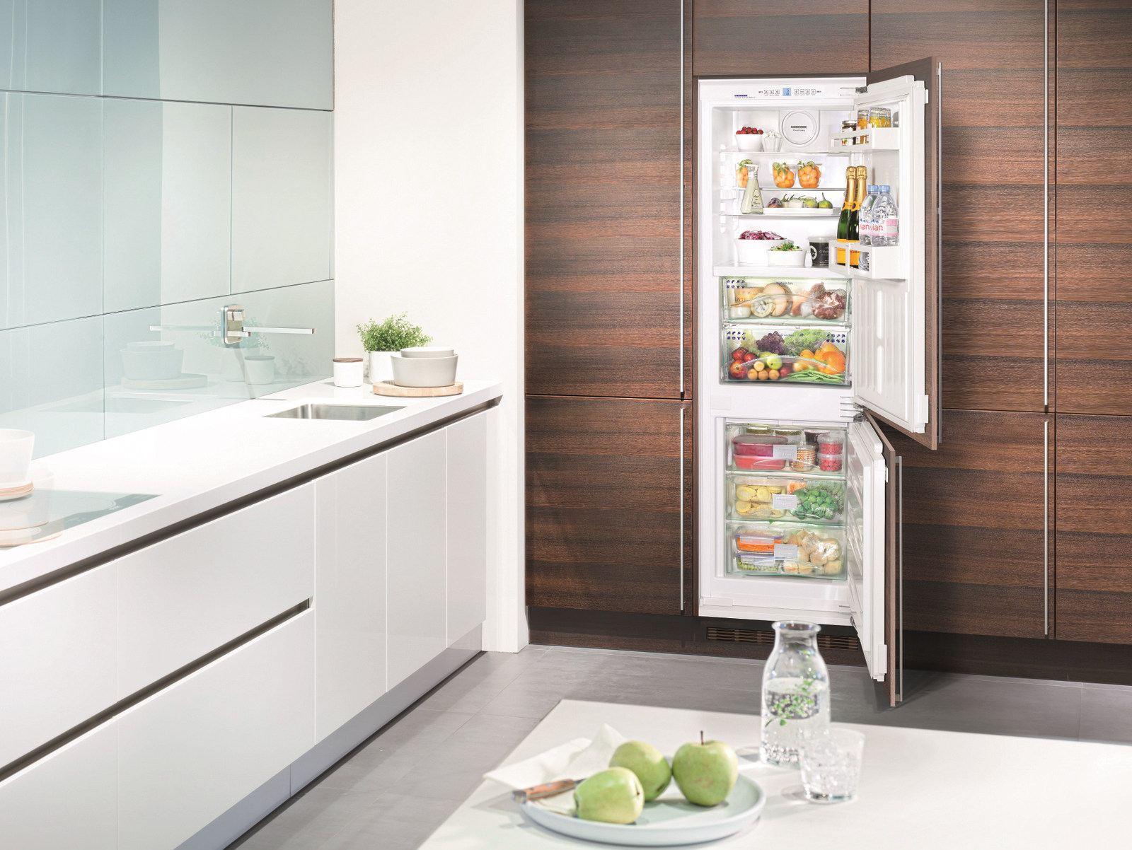 встроенный холодильник с морозильником Liebherr