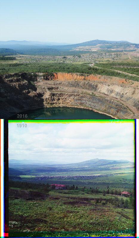 Вид на село Рудничное и хребет Шуйда.