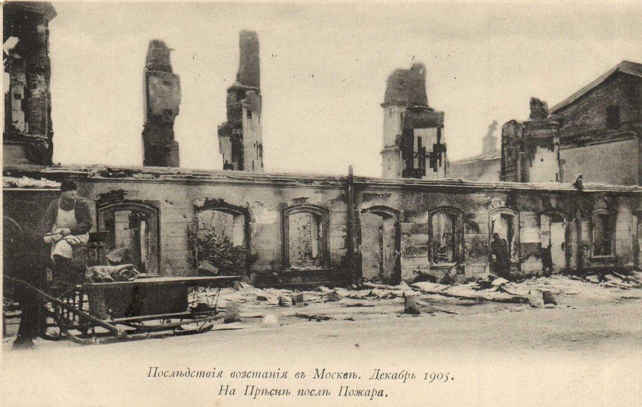 Последствия восстания в Москве. На  Пресне после пожара