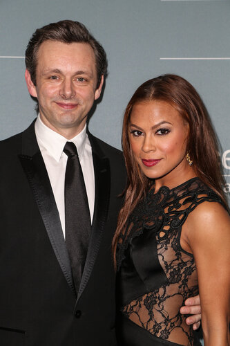 BEVERLY HILLS, CA - JANUARY 14: Actors Michael Sheen (L) and Toni Trucks arrive at the 2014 UNICEF Ball presented by Baccarat at Regent Beverly Wilshire Hotel on January 14, 2014 in Beverly Hills, California. (Photo by Chelsea Lauren/WireImage)