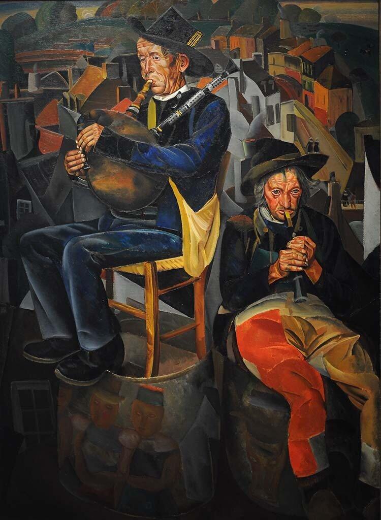 Бретонские волынщики (Крестьяне, играющие на дудках) Борис Григорьев. 1924