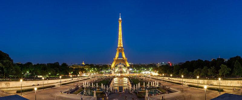 Панорамное фото из Парижа