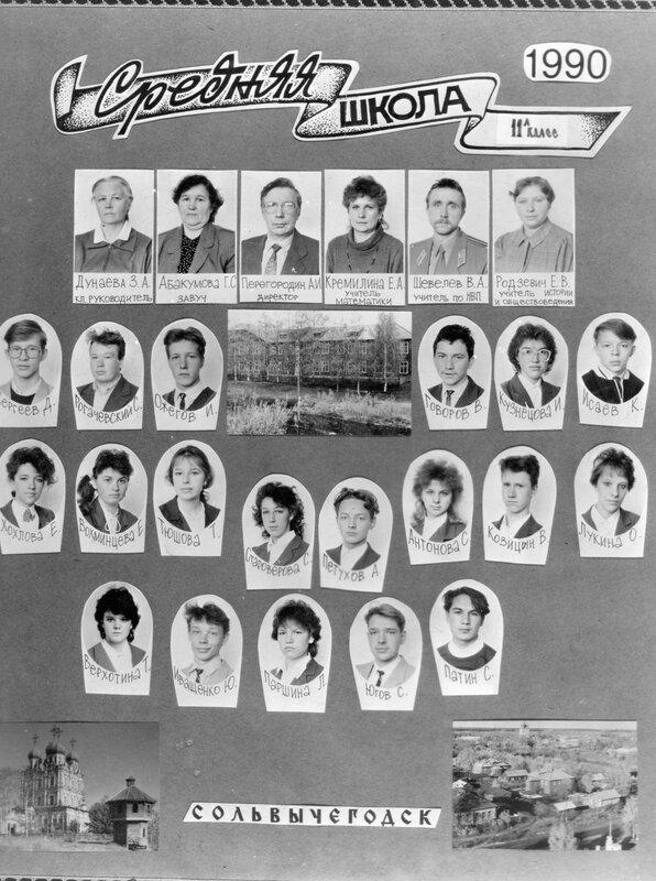 Выпускники 1990 г.