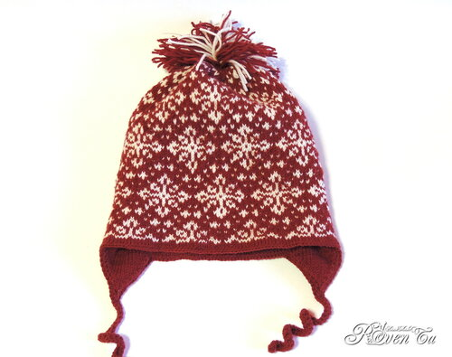 roventa-handmade, knitting hat, вязаная шапка, шапка спицами, жаккард, жаккардовая шапка, шапка для девочки, зимняя шапка, шапка со снежинками, двойная шапка, шапочка,