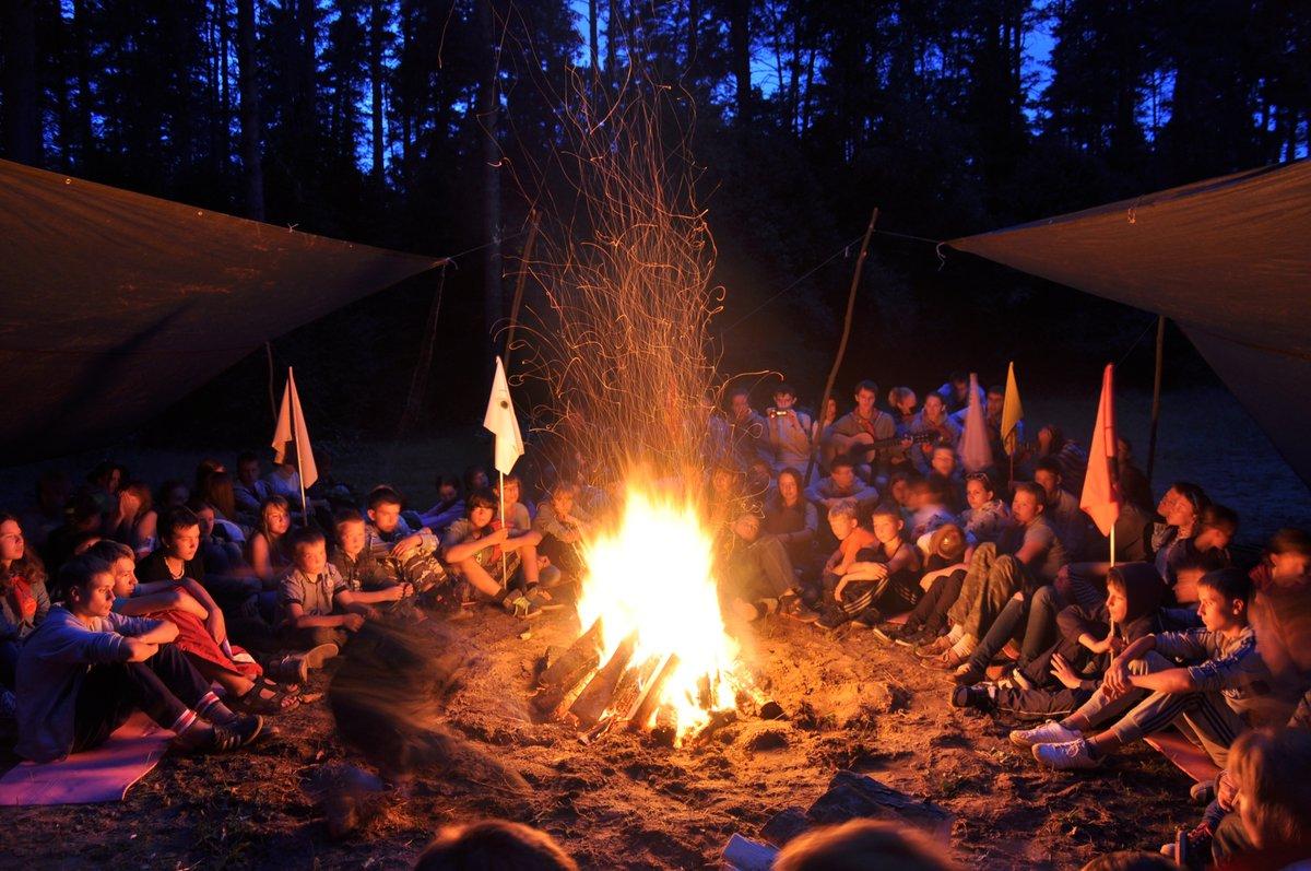 Палаточном знакомств лагере в огонек вечерний вечер