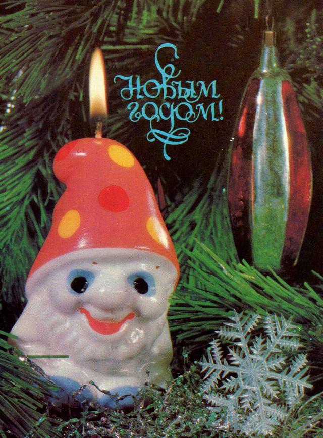 Гномик-свеча. С Новым годом!