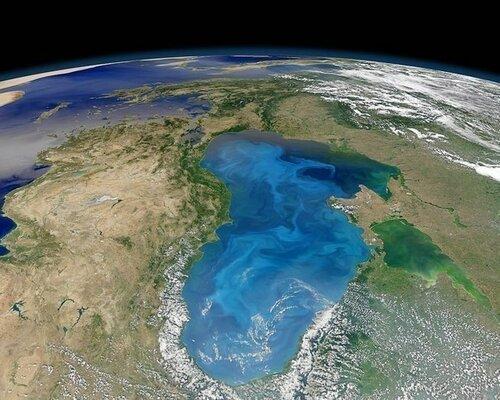 Чёрное море, вид с орбиты. Фото NASA