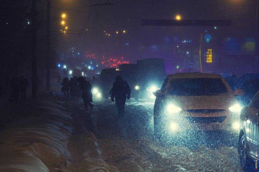 Фоторепортаж: Снегопад в Ростове-на-Дону