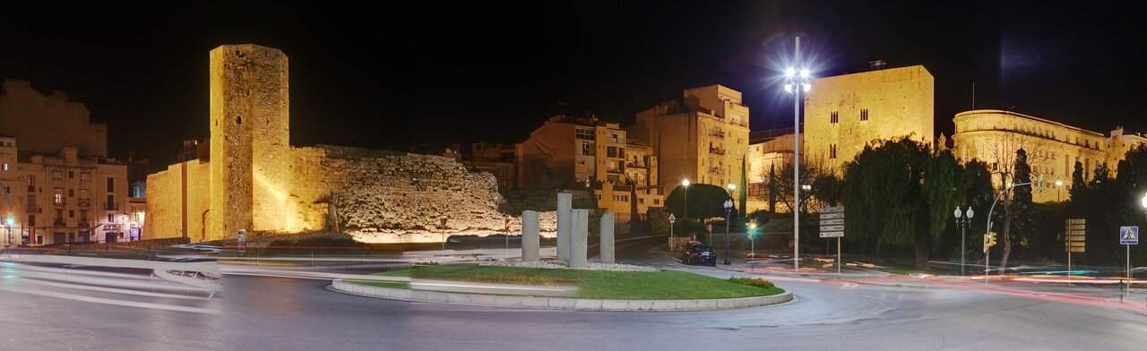 panorama. Muralleta i la Torre de les Monges. Таррагона. Башня монахинь. панорама
