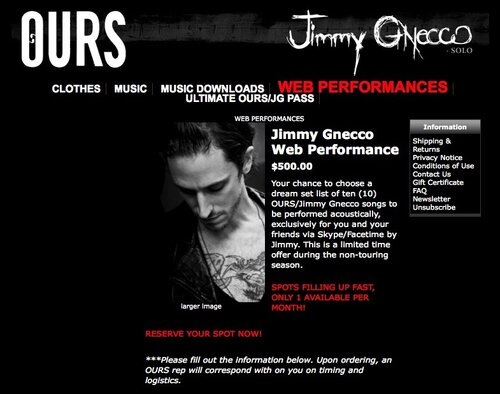 web performances by Jimmy Gnecco