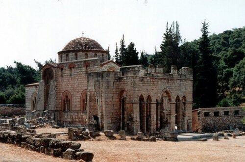 Греция. Церковь Успения в Дафни