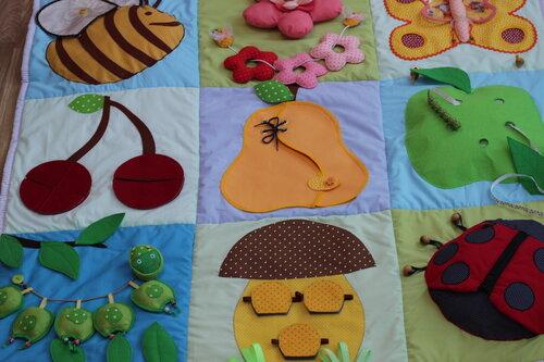 Выкройка развивающий коврик для детей своими руками 16