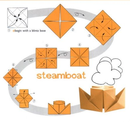 Бумажные кораблики