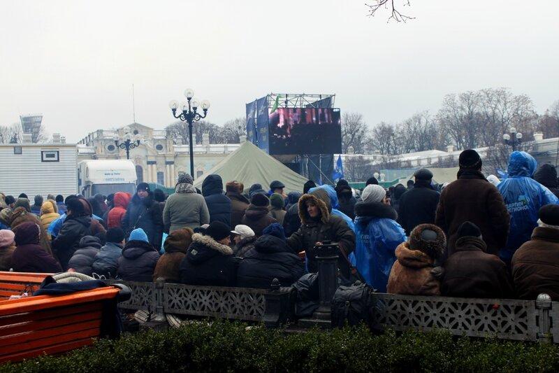 Антимайдан на площади Конституции