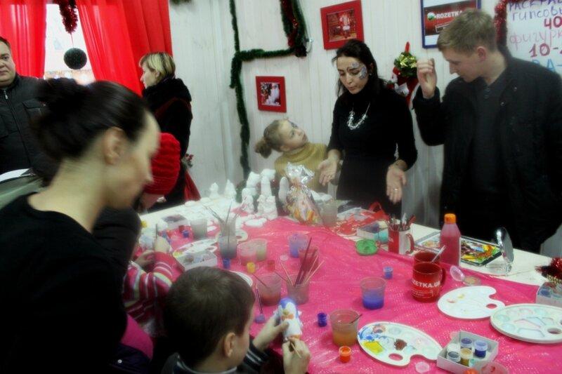Художественная мастерская в домике Деда Мороза
