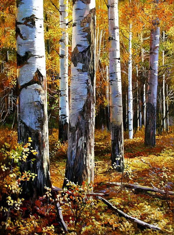 Ах, осень, осень - время золотое, Дивные раскраски октября! Художник Andrew Kiss