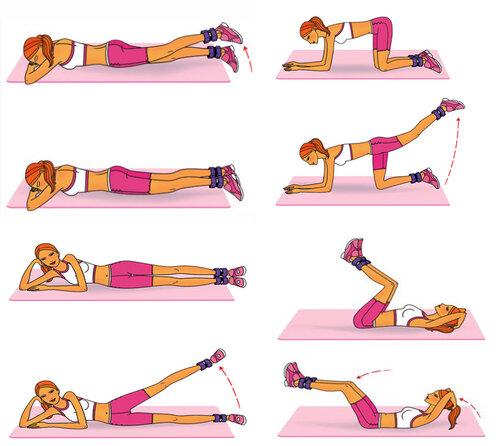 Упражнения для ног и ягодиц для девушек в домашних условиях