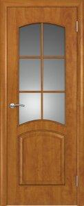 Ламинированная дверь с большим стеклом цена с установкой