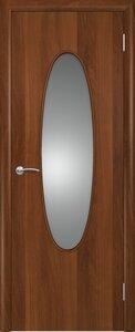 Дверь для ванной ламинированная с зеркалом