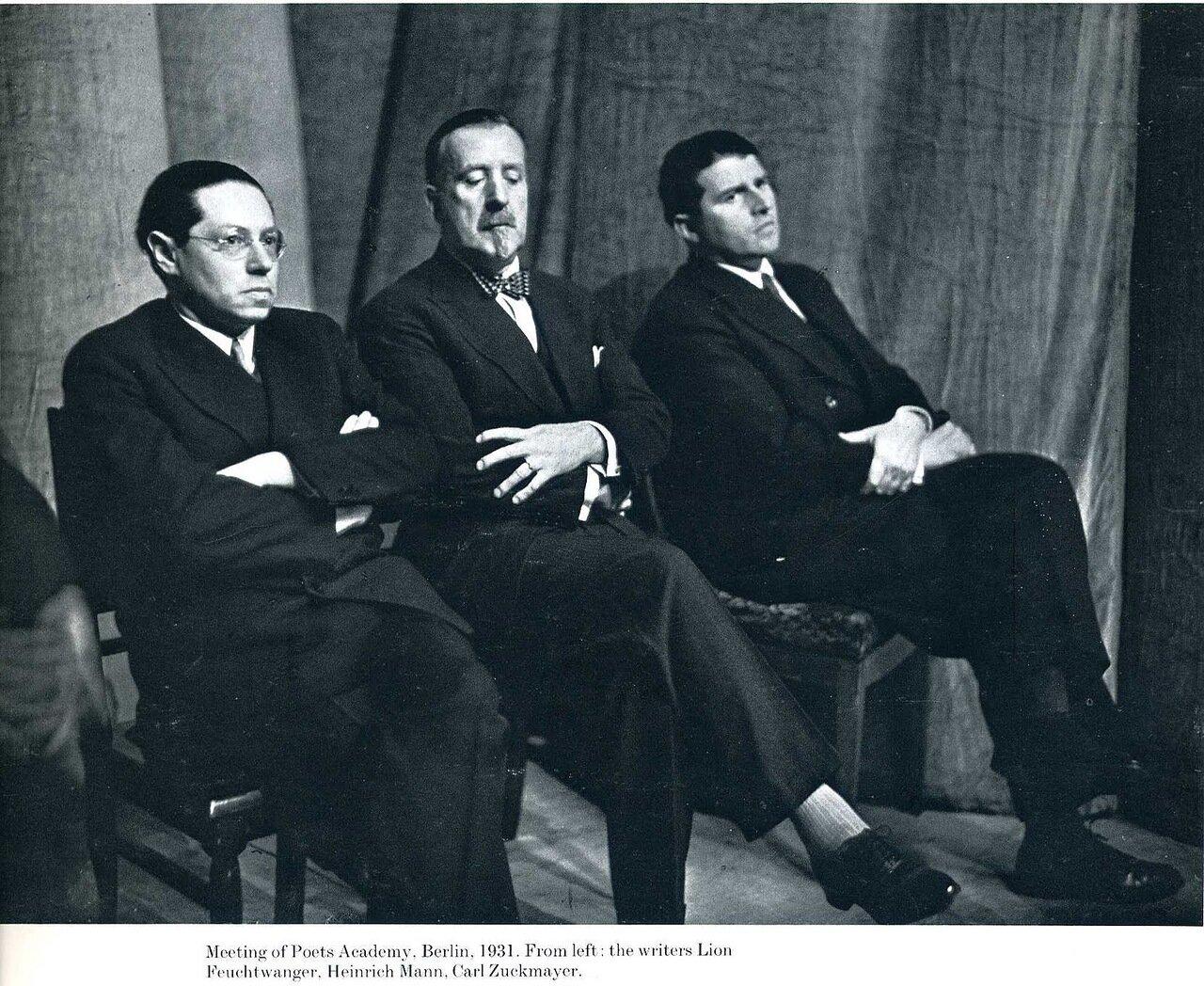 1931. Встреча в Поэтической академии, Берлин,