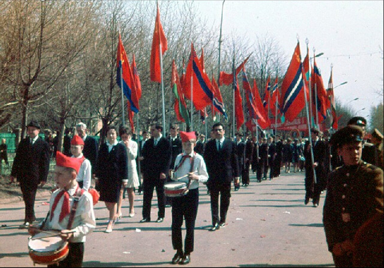 1 Мая 1970 года на Площади Ленина
