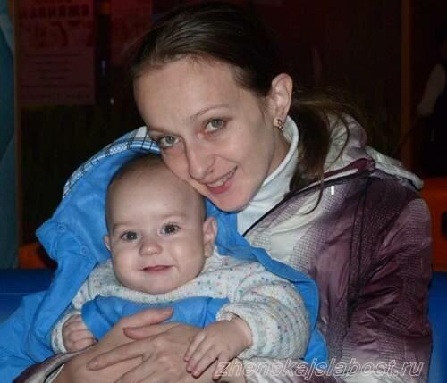 Лена Маршалко и сынуля Ванечка
