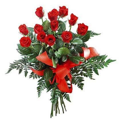 Букет любви. Розы открытка поздравление картинка
