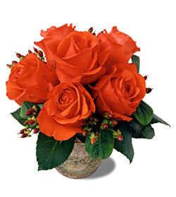 Букет из пяти роз открытка поздравление картинка