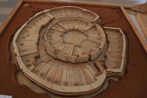 Макет древнего поселения