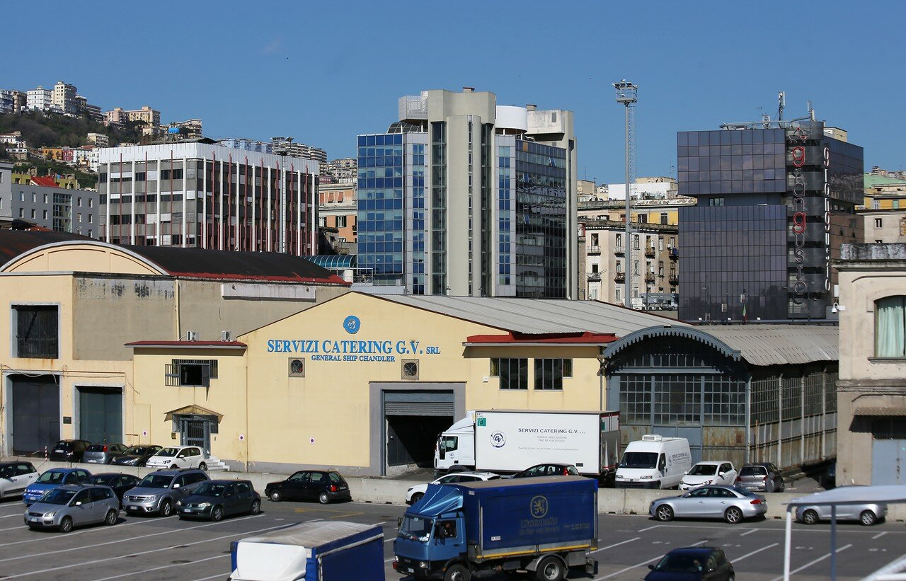 Buildings on Nuova Marina Avenue, Naples