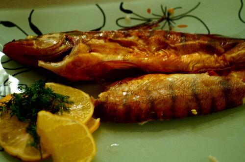 Рыбка копчёная в чайной дымке