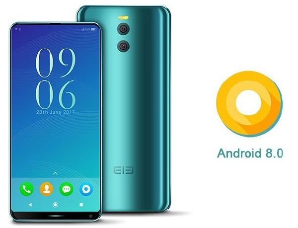 Elephone рекламирует смартфон с андроид 8.0
