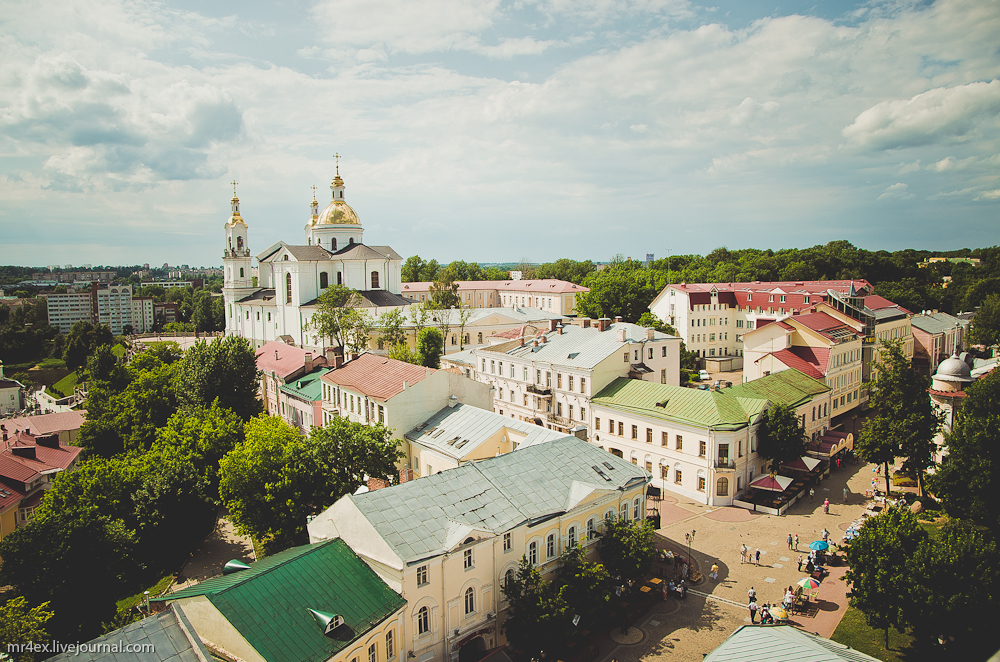 Витебск, вид на Старый город, Успенская церковь