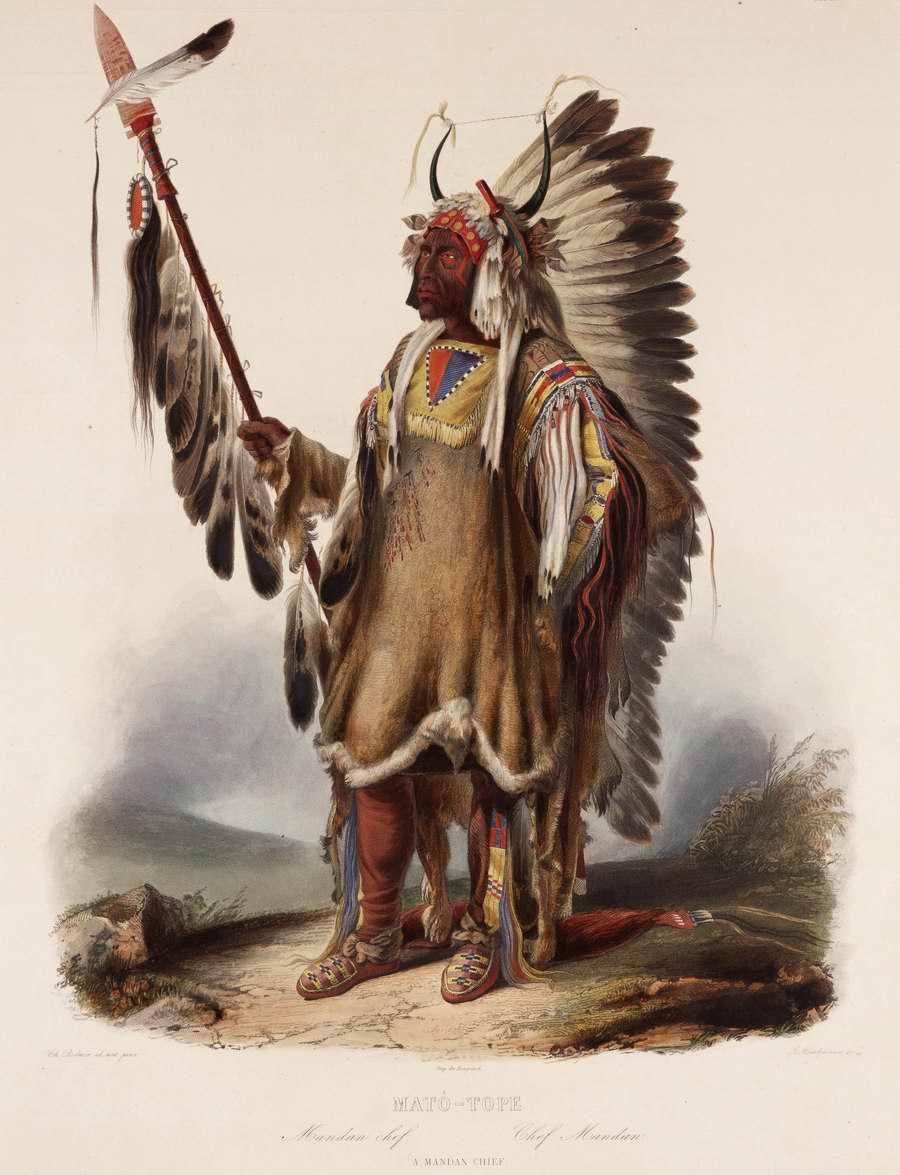 Вождь племени манданов - Karl Bodmer