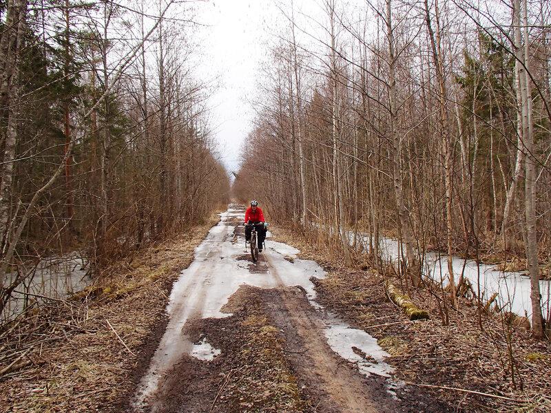 старая дорога от Огорелья на восток