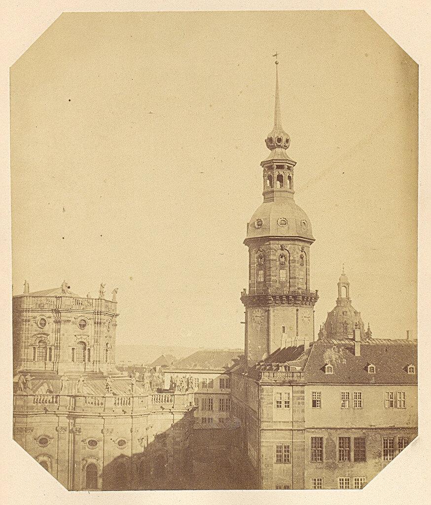 Дрезден. Башня дворца. 1855