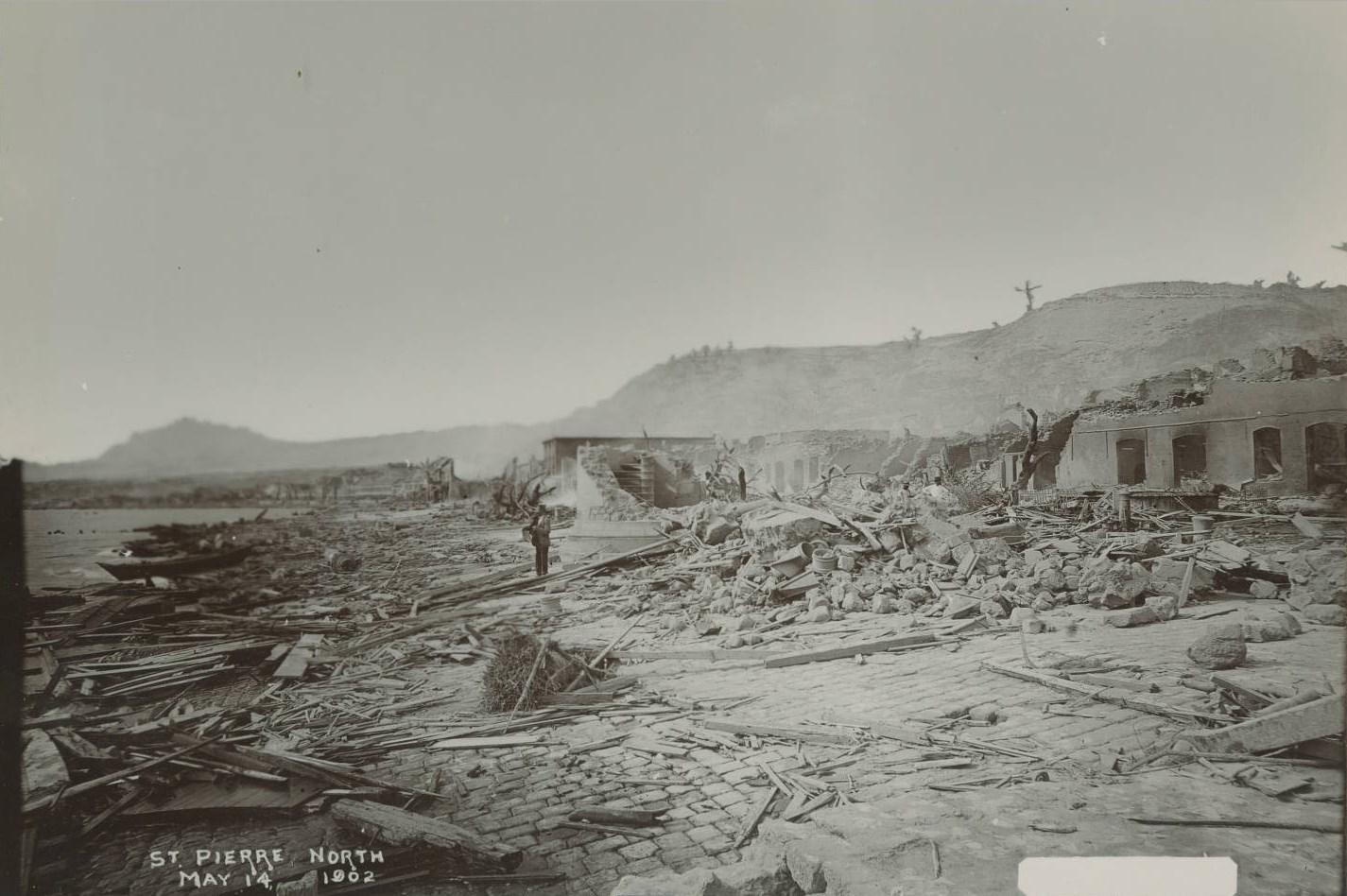 Сен-Пьер, северная часть. 14 мая 1902