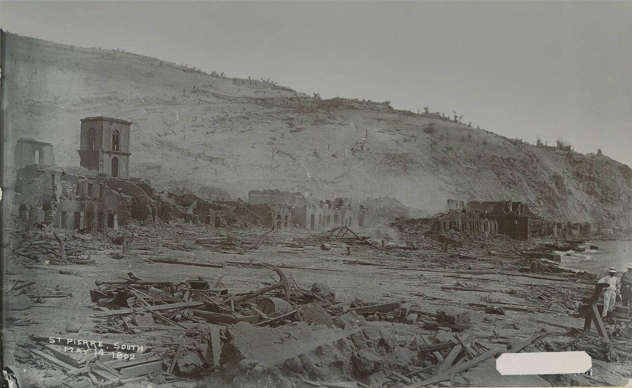 Сен-Пьер, южная часть, 14 мая 1902