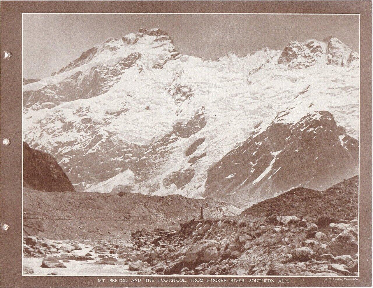 Гора Сефтон от реки Хукер, Южные Альпы