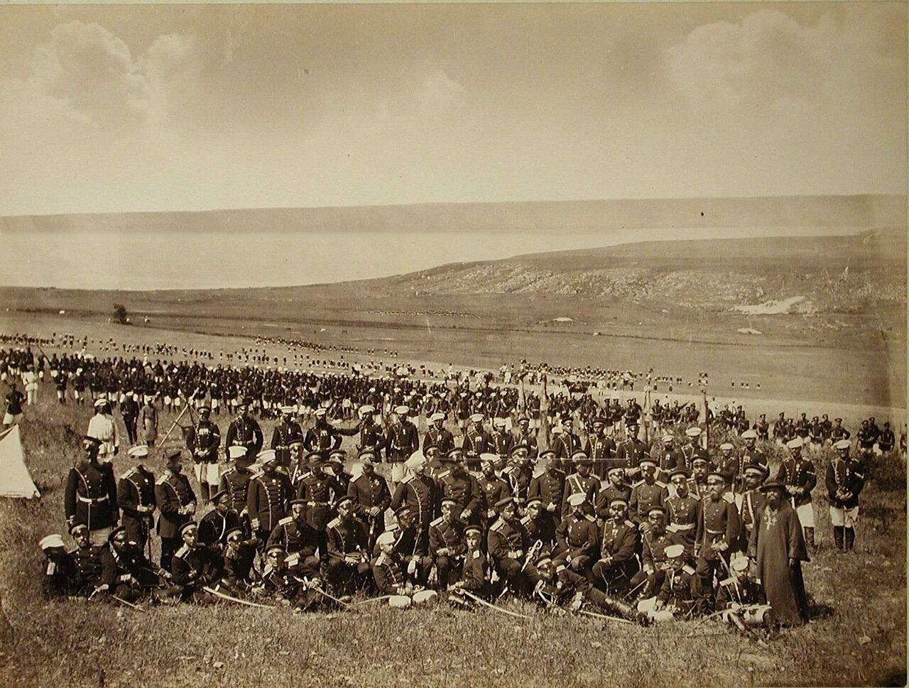 44. Офицеры Семёновского полка на биваке. Турция. Сафракиой