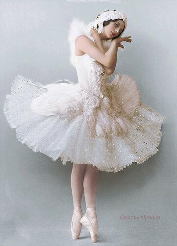 "Анна Павлова - ""Умирающий лебедь"""