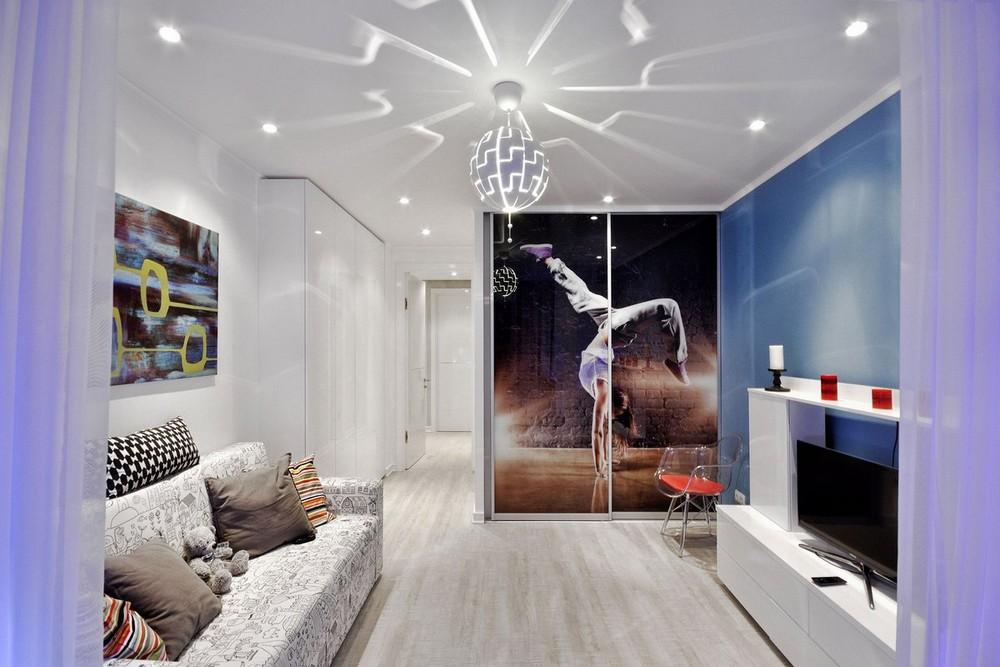 Яркий интерьер квартиры в Перми