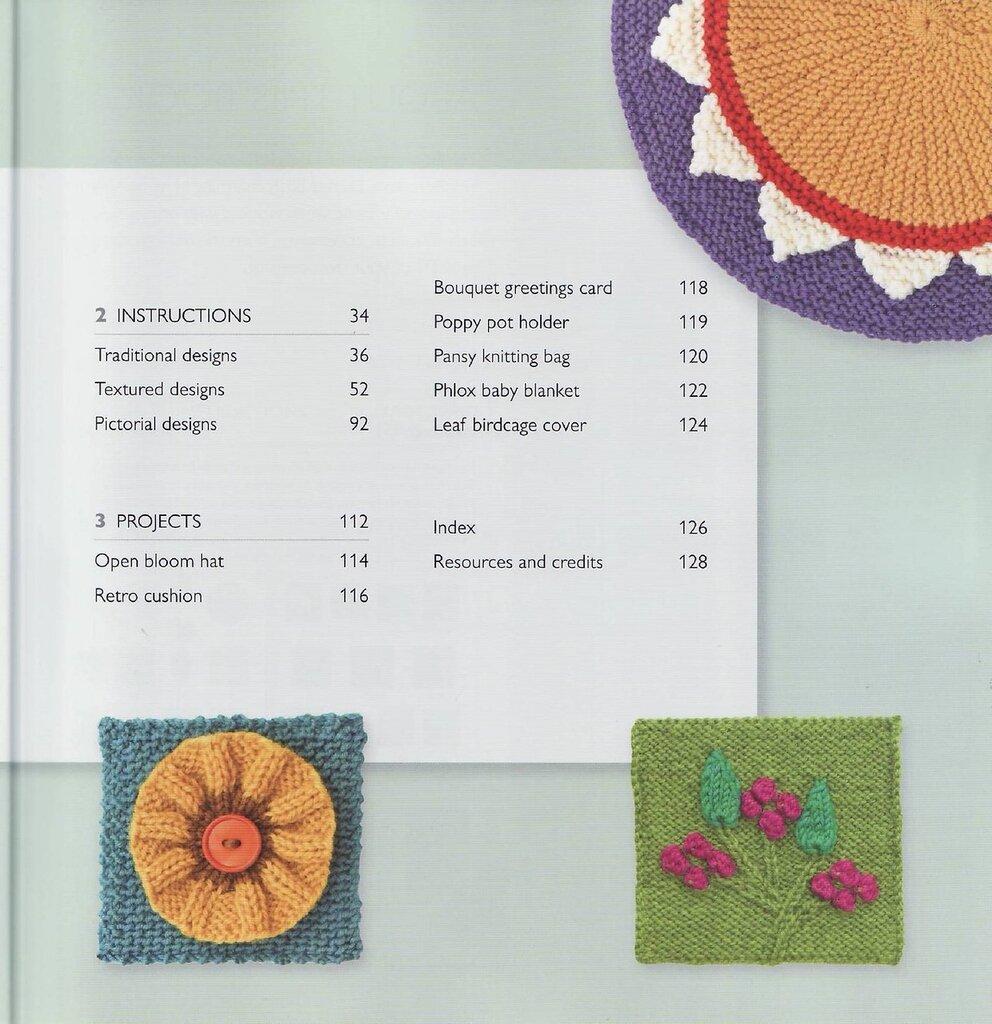 75 FLORAL BLOCKS TO KNIT   75个花块编织 - 编织幸福 - 编织幸福的博客