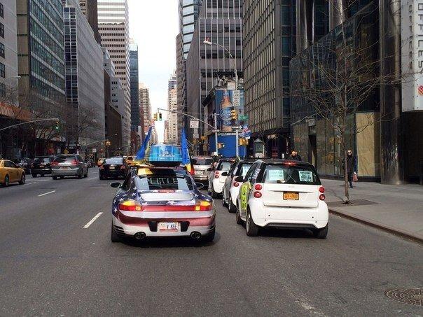 Автопробег в Нью-Йорке